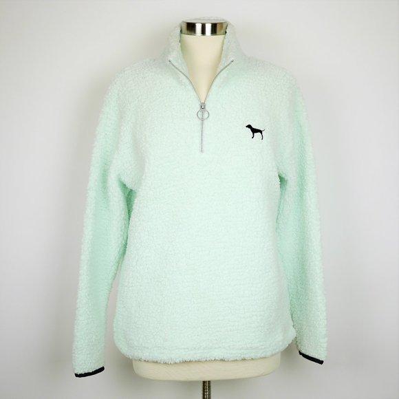 PINK VS Mint green1/4 zip fleece pullover jacket
